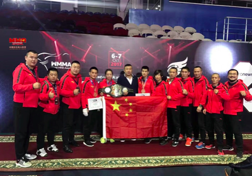 Lin Heqin made history by becoming 1st Chinese fighter to claim gold at the World MMA Championships