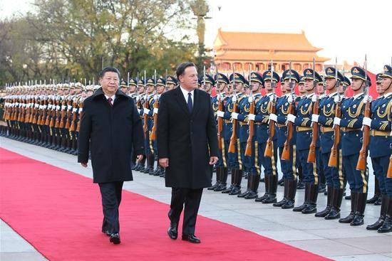 """Chinese president says relations with Panama """"turn over a new leaf"""""""