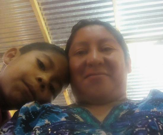 This 2018 file photo provided by Beata Mariana de Jesus Mejia-Mejia shows herself with her son Darwin Micheal Mejia in Quetzaltenango, Guatemala, before they left for the United States and crossed the border near San Luis, Arizona. On Tuesday, June 19, Mejia-Mejia, who hasn't seen her 7-year-old son since he was taken from her a month ago, sued the Trump administration. She was released from custody while her asylum case is pending and thinks her son, Darwin, might be in a shelter in Arizona. (Beata Mariana de Jesus Mejia-Mejia via AP)
