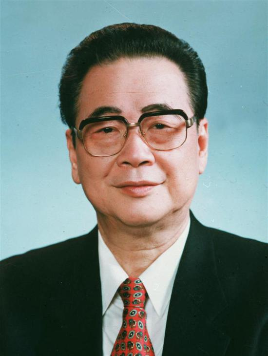 Portrait of Li Peng, former chairman of the National People's Congress Standing Committee. Li died of illness in Beijing at the age of 91 at 11:11 p.m. Monday, an official statement said Tuesday. (Xinhua)