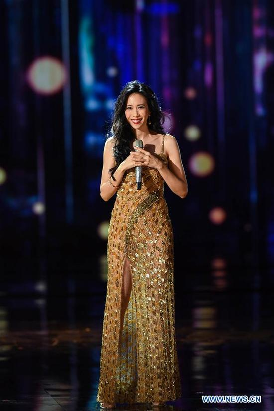 Karen Mok attends the opening ceremony of the 8th Beijing International Film Festival (BJIFF) in Beijing, capital of China, April 15, 2018. (Xinhua/Liu Junxi)