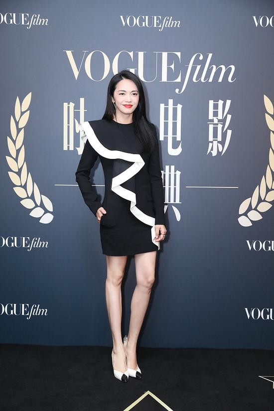 Chinese actress Yao Chen arrives on the red carpet for the Vogue Film fashion event 2018 in Beijing, China, Nov 7, 2018. [Photo/IC]