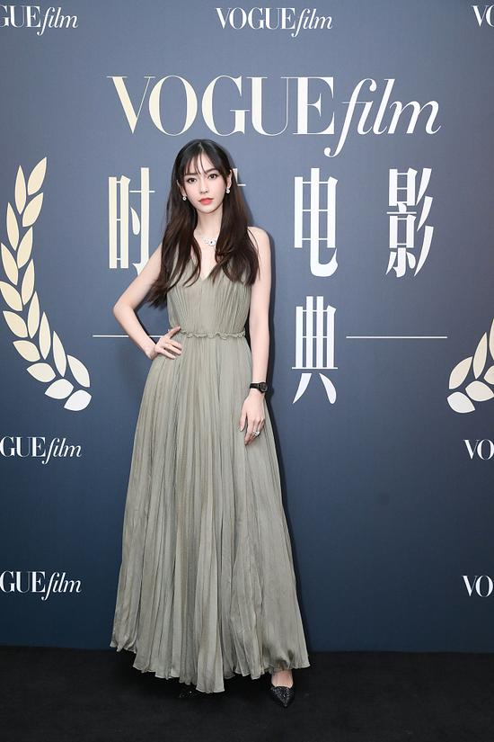 Chinese actress Yang Ying arrives on the red carpet for the Vogue Film fashion event 2018 in Beijing, China, Nov 7, 2018. [Photo/IC]