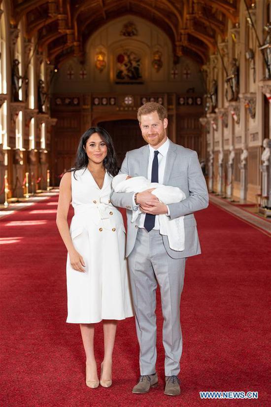 哈里王子和梅根的小男孩阿奇 1