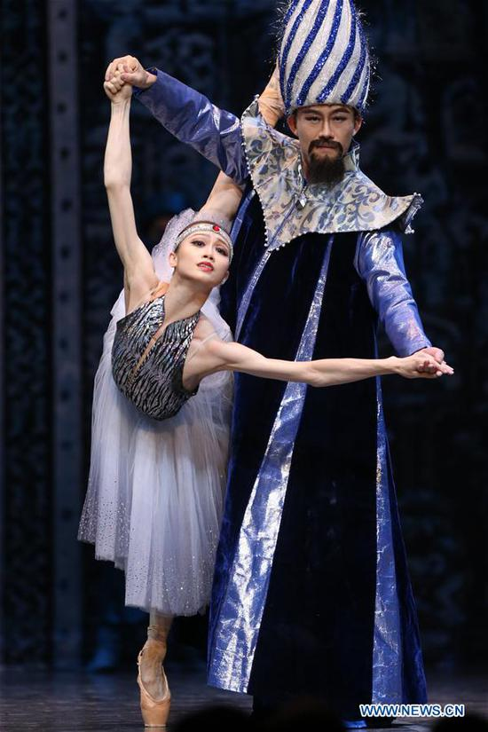 Artists dance during the ballet