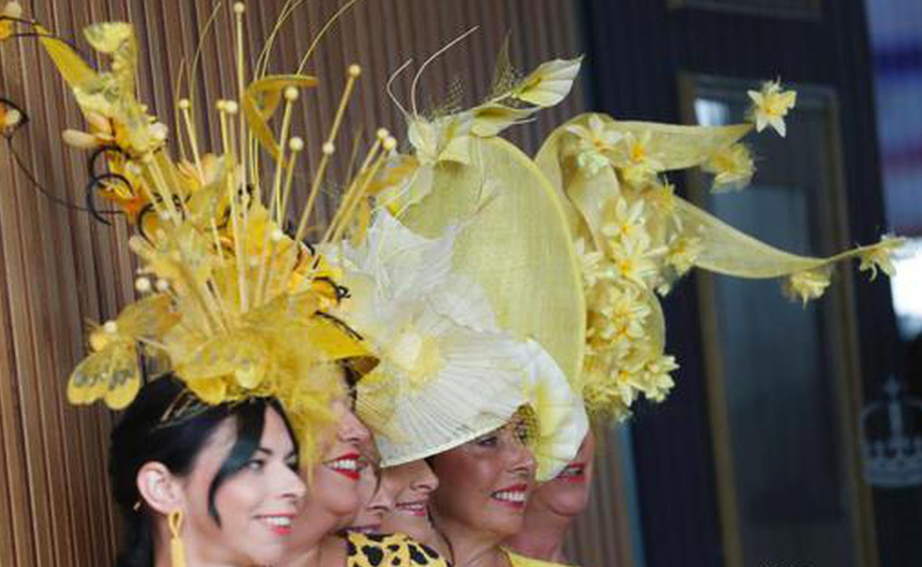 Racegoers adorned their statement hats with feathers and flowers in one of Britain's most well-known racecourses. (Photo/Agencies)