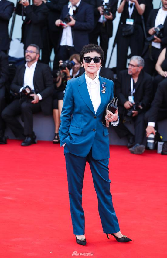 Jury members Sylvia Chang poses on the red carpet of the 75th Venice International Film Festival in Venice, Italy, Aug. 29, 2018. The 75th Venice International Film Festival kicked off here on Wednesday.