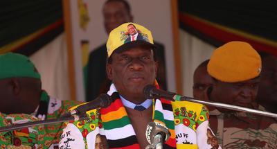 Zimbabwean President Mnangagwa preaches peace ahead of election