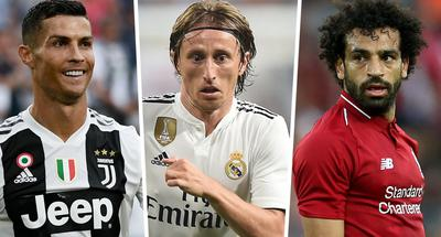 Ronaldo, Modric, Salah finalists for FIFA top men's player award