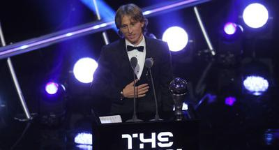 Modric named FIFA best men's player of the year, ends Ronaldo-Messi duopoly