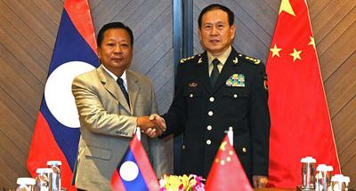 Chinese defense minister meets with Lao counterpart