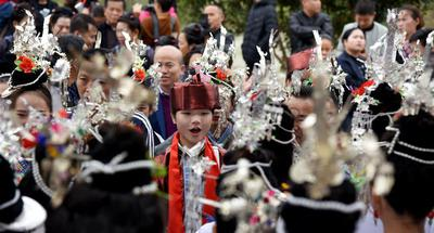 People of Dong ethnic group celebrate song festival in Guizhou