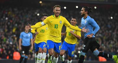 Neymar's penalty kick gives Brazil 1-0 win over Uruguay in friendly