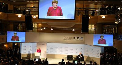 Merkel advocates cooperation, multilateralism in Munich