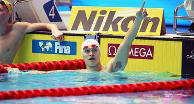 Sun Yang wins gold in men's 200m freestyle at FINA Worlds
