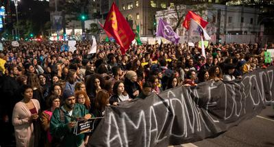 Brazilians march for Amazon fires, call for forest protection