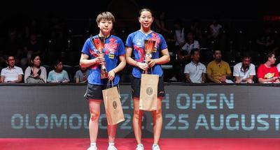 China's Gu/Mu win women's doubles title at ITTF Czech Open