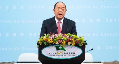 Ho Iat Seng elected as Macao's chief executive-designate