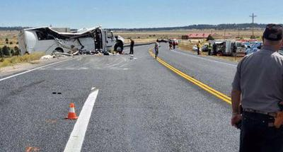 At least 4 Chinese tourists dead in tour bus crash in U.S. Utah