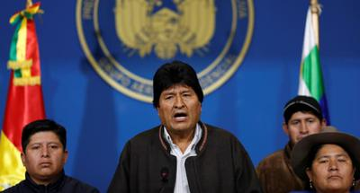 Bolivian President Evo Morales resigns after calling for new elections