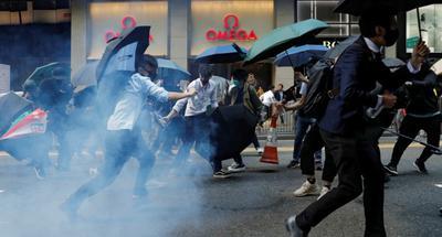 China refutes U.S., U.K. remarks on Hong Kong violence