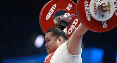 China's Li sweeps women's +87kg division at IWF World Cup