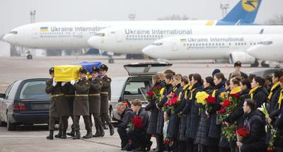 Ukrainian president bids farewell to citizens killed in Iran plane crash