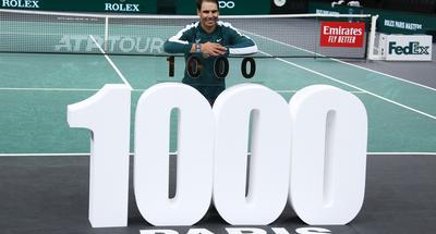 Nadal reaches career 1,000 wins at ATP Paris Masters