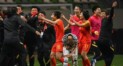 China's women's football team reach Tokyo Olympics with extra-time win over South Korea