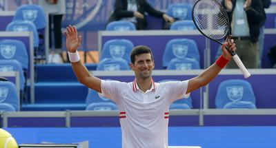 Djokovic triumphs in opening match at Serbia Open