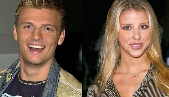 Singers Nick Carter, left, and Melissa Schumer, seen here in 2002 file photos.  (Associated Press )