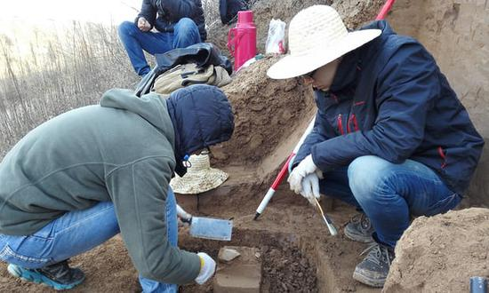 Scientists unearthed the tools at a site in the Loess Plateau in China. Photograph: Zhaoyu Zhu/AP