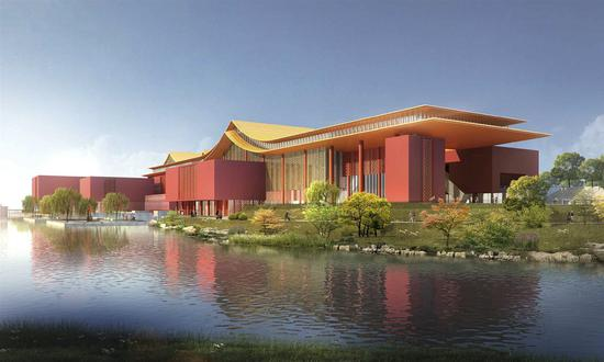 The rendering picture of a new branch of the Palace Museum. (Photo from Internet)