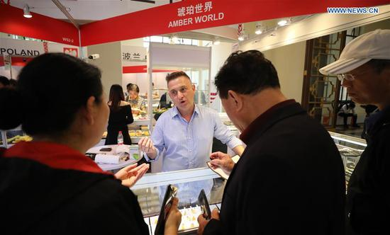The Belt and Road Brand Expo 2019 kicked off at Shanghai Exhibition Center in Shanghai Friday. (Xinhua/Fang Zhe)