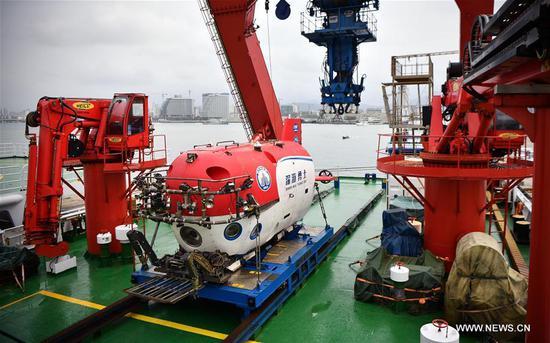 中国新型载人潜水器完成远征任务 3