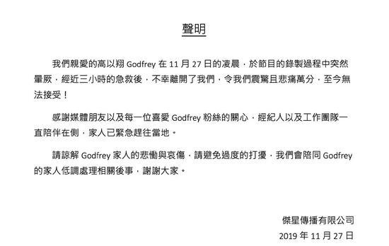 演员曹国伟在电视节目中倒下35岁去世