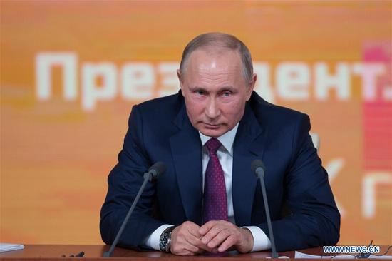 Russian President Vladimir Putin (Xinhua file photo)