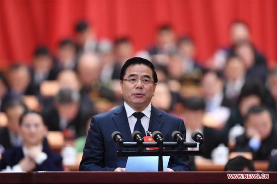 Zhang Ji, a member of the 13th National Committee of the Chinese People's Political Consultative Conference (CPPCC), delivers a speech at the second plenary meeting of the first session of the 13th CPPCC National Committee at the Great Hall of the People in Beijing, capital of China, March 8, 2018. (Xinhua/Zhang Ling)