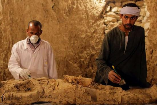 Egypt uncovers ancient tombs at Luxor
