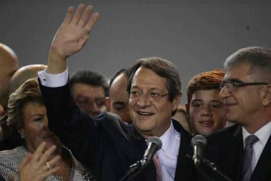 Cyprus president re-elected for second term