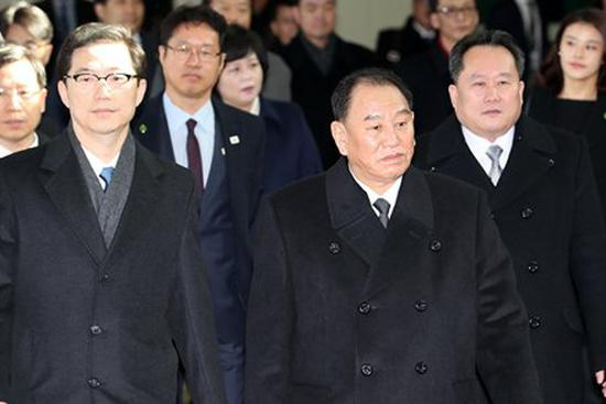 DPRK high-ranking delegation arrives in S.Korea for Olympics closing ceremony