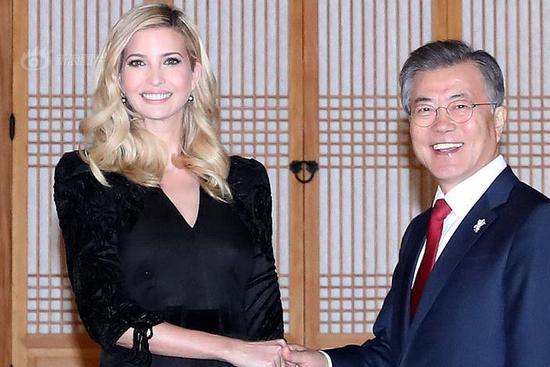 S.Korean president has closed-door meeting with Ivanka Trump before having dinner