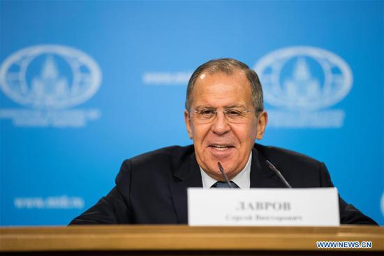 Russian Foreign Minister Sergey Lavrov (Xinhua file photo)