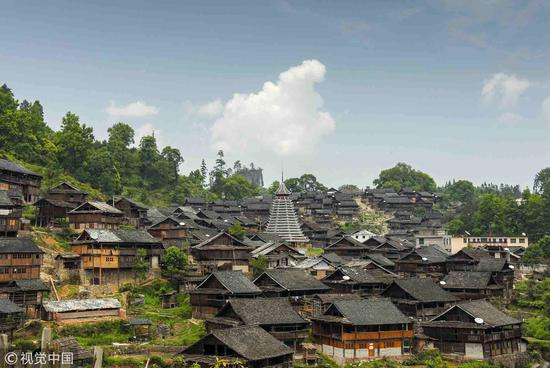 Dong Ethnic Group village in Guizhou Province /VCG Photo