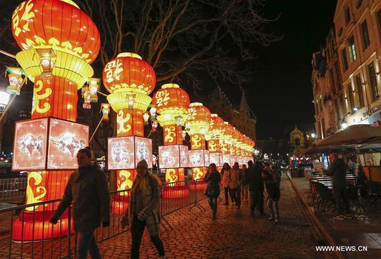 Chinese lanterns exhibition held in Brussels