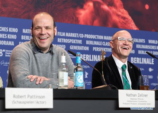 Directors David Zellner (R) and Nathan Zellner attend a press conference of film