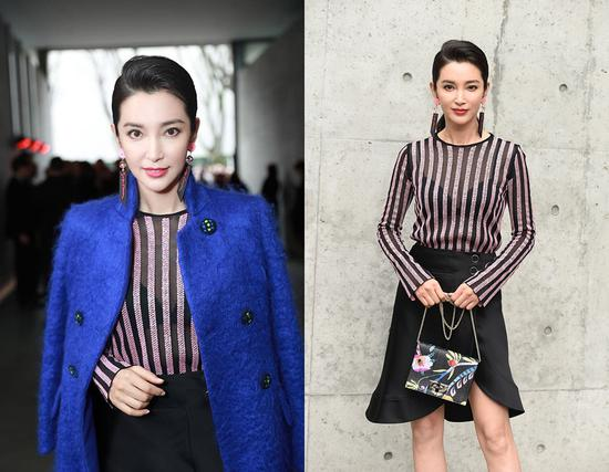 Top actress Li Bingbing attends the Giorgio Armani show during the 2018 Milan Fashion Week on February 24, 2018 in Milan, Italy. [Photo/VCG]