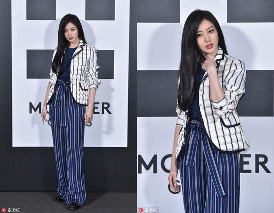 Chinese actress Zhang Tianai attends the Moncler show during the 2018 Milan Fashion Week on February 20, 2018 in Milan, Italy. [Photo/IC]