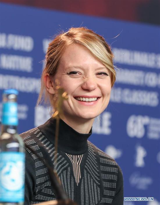 Actress Mia Wasikowska attends a press conference of film