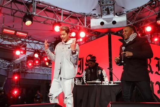 C-Pop star Kris Wu performs at Super Bowl pregame show